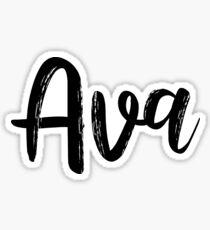Ava Name Sticker