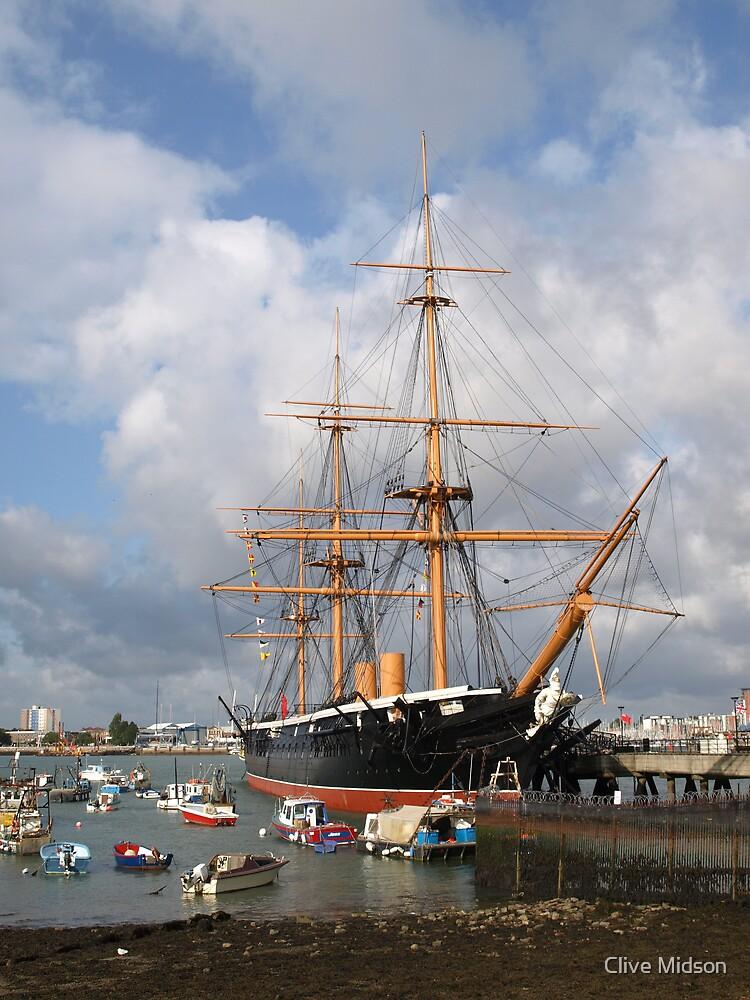 HMS Warrior by Clive Midson