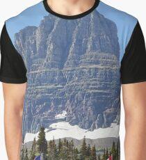 Flags, Logan Pass, Clements Mountain, Glacier National Park, Montana Graphic T-Shirt
