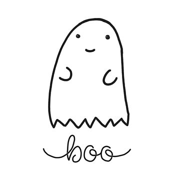 Cute Friendly Ghost Doodle by MandiKing