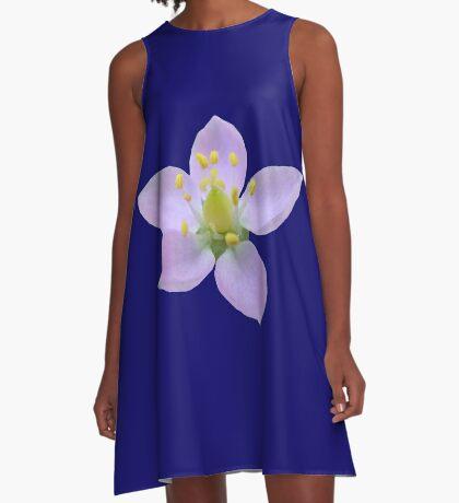 wunderschöne, violette Blüte, Blume, Natur A-Linien Kleid