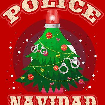 Police Navidad T-Shirt Funny Christmas Police Tee by Teeshirtrepub