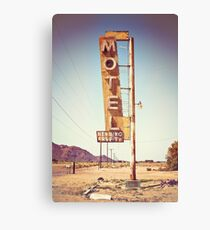 Motel Sign on the Route 66 Canvas Print