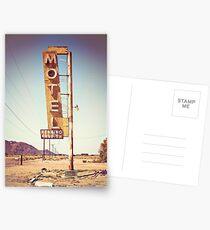Motel Schild an der Route 66 Postkarten