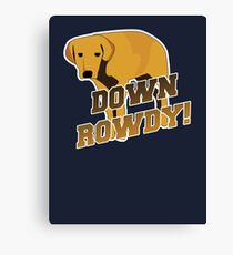 Down Rowdy the Dog Canvas Print
