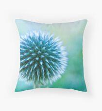 Spike Blue Throw Pillow