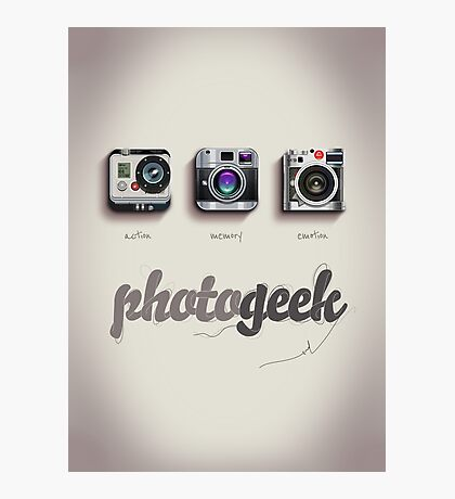 Photogeek Photographic Print