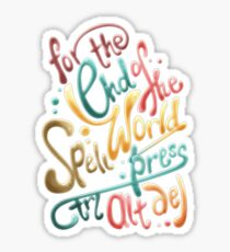 For the end of the world spell, press CTRL ALT DEL Sticker