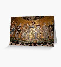 Mosaic of Santa Maria de Trastévere Greeting Card