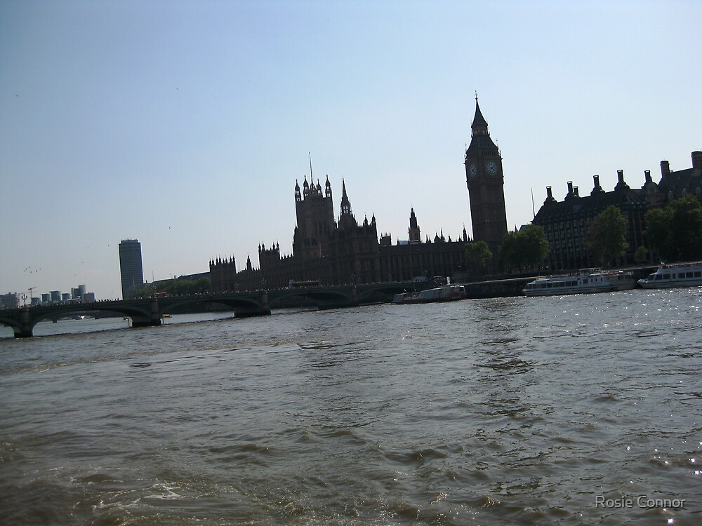 Big Ben From The Thames by Rosie Connor