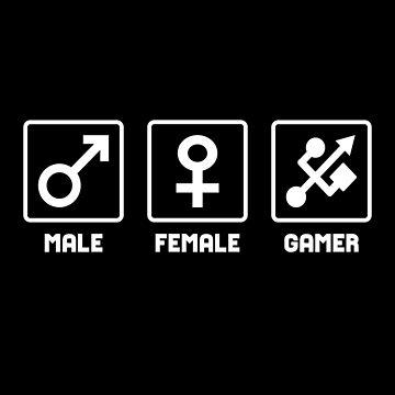 Gamer Symbol - Gamer Gender Sign T-shirt by drakouv