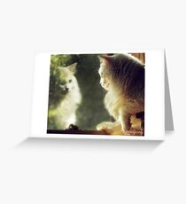 When Will My Reflection Show... Greeting Card