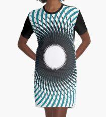 NAUTILUS (AQUA/BLACK) Vestido camiseta