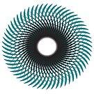 «NAUTILUS (AQUA/BLACK)» de geometricarte