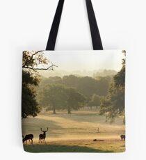 At the Deer Sanctuary Tote Bag