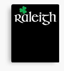 St. Patrick's Day City Pride - RALEIGH Canvas Print