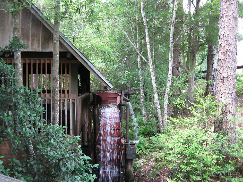 Water wheel grist mill  by Pam Utton
