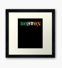 St. Patrick's Day City Pride - BOSTON Framed Print