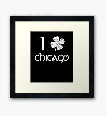 St. Patrick's Day City Pride - CHICAGO Framed Print