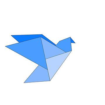 blue origami bird  by stoekenbroek