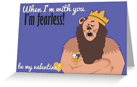 Cowardly lion wizard of oz valentine greeting cards by jesse cowardly lion wizard of oz valentine by jesse armine bookmarktalkfo Image collections