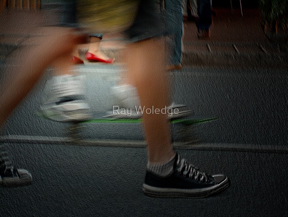 Red shoes by Ray Woledge