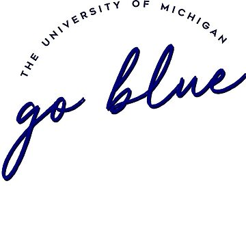 Go Blue Script by stickybad