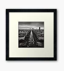 Paris cityscape Framed Print