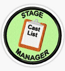 Stage Manager Geek Merit Badge Sticker