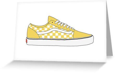 de912bcb061 Yellow Checkered Vans Old Skool Shoes