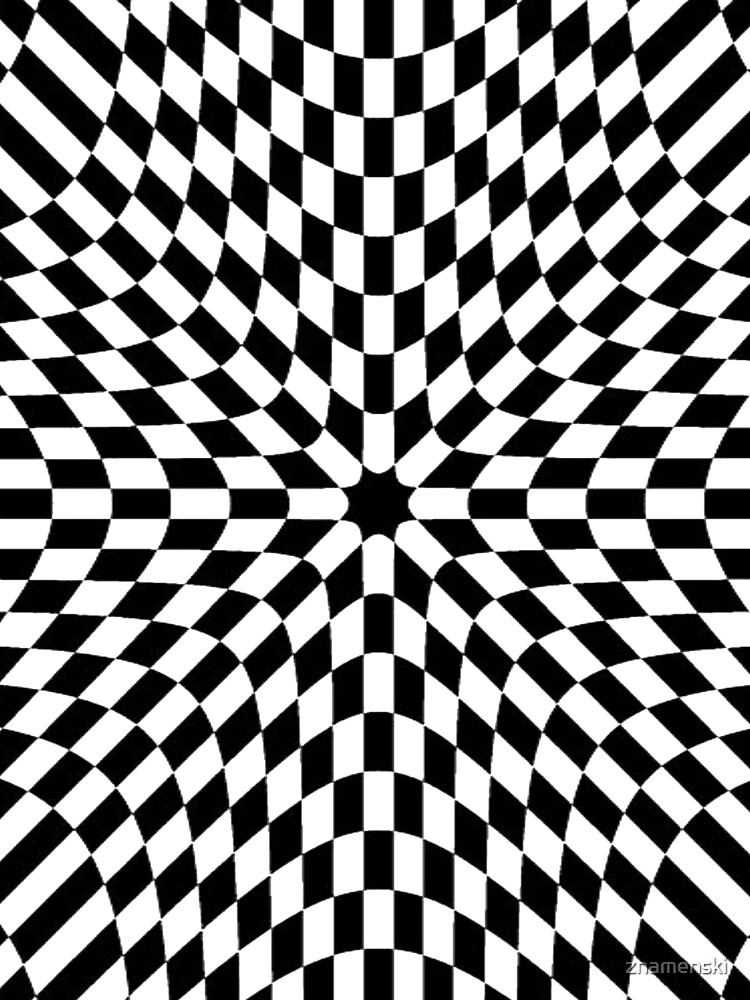 Black White Checkered Chess Pattern Abstract Flag Floor