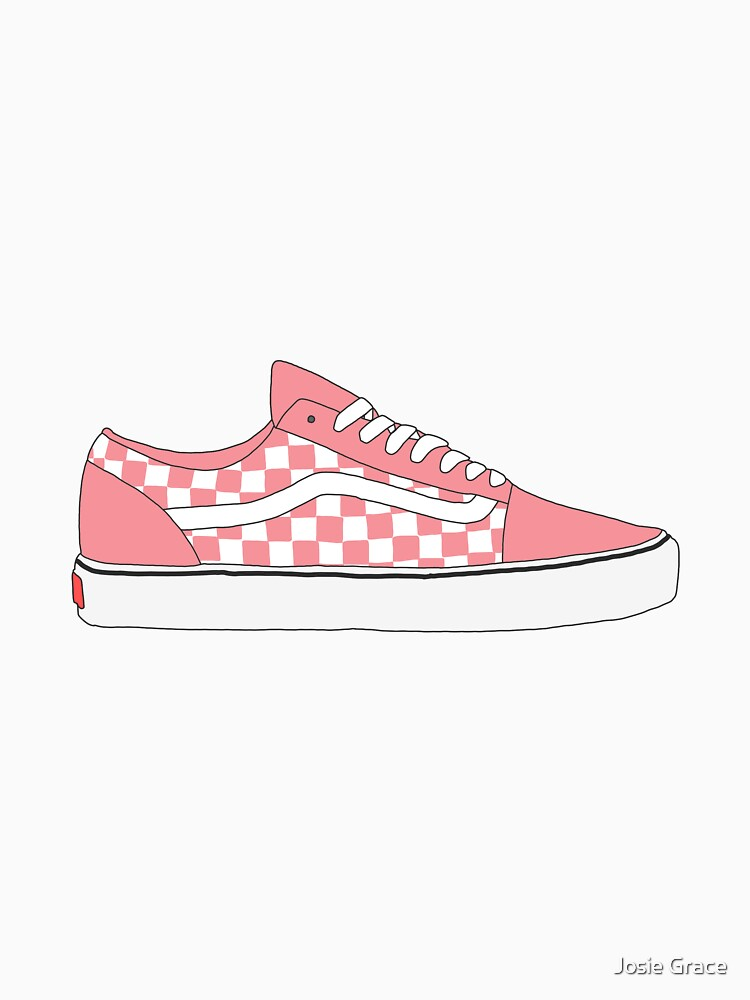 e990766265a Pink Checkered Vans Old Skool Shoes