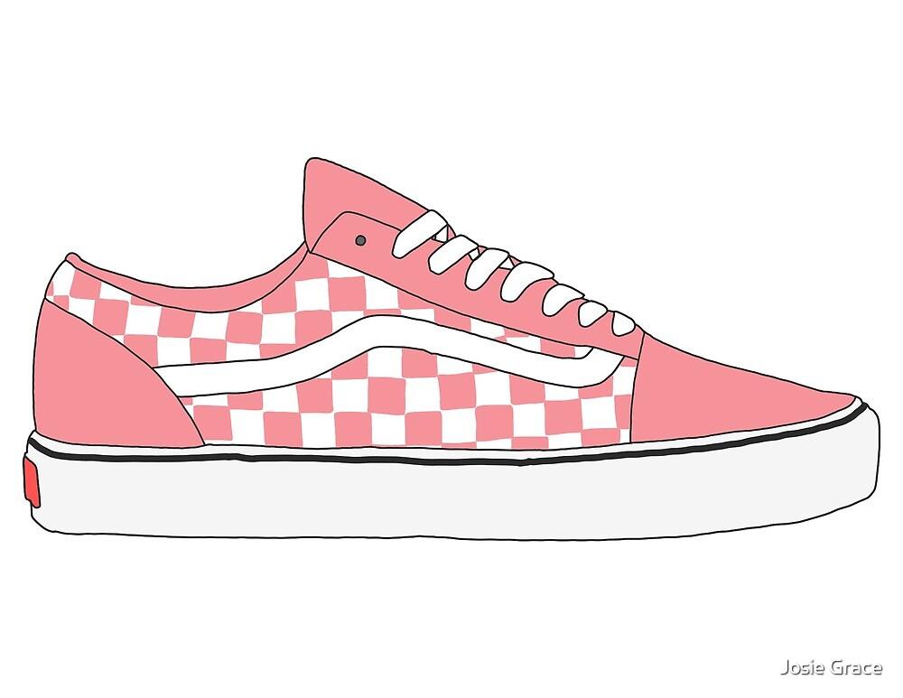 05ed1af0b7a Pink Checkered Vans Old Skool Shoes