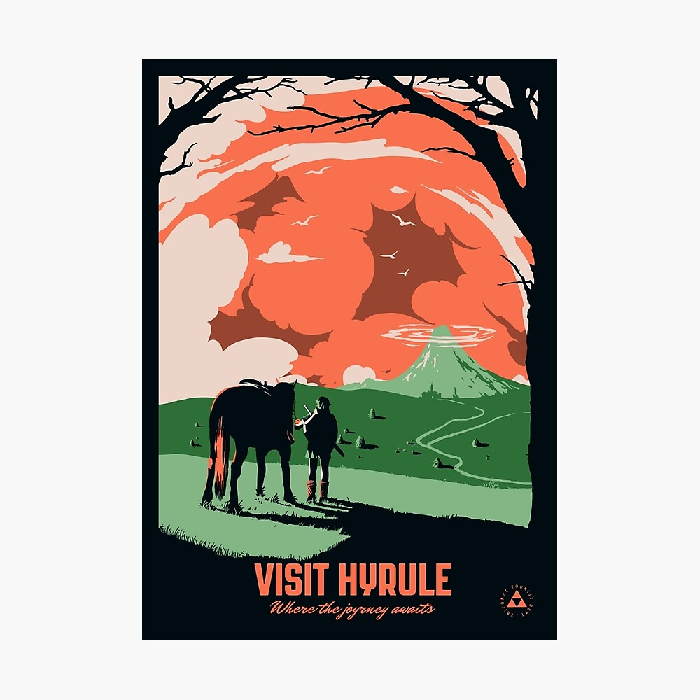 Besuche Hyrule Fotodruck
