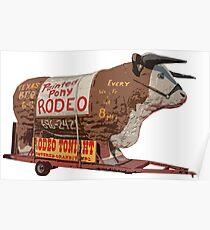 Texas Long Horn Steer Roadside Attraction Poster