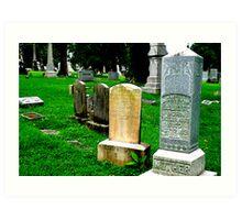 Grave Array Art Print