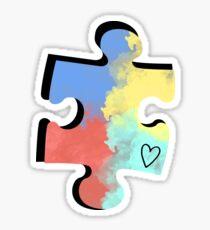 Autismus-Puzzleteil Sticker