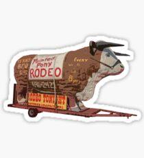 Texas Long Horn Steer Roadside Attraction Sticker