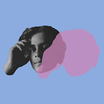 Kahlil Gibran portrait - pop blue pink purple by savantdesigns