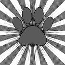 Dog Paw Print Manga Style by Almdrs