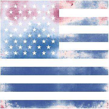 Textured American Flag by mrsalbert