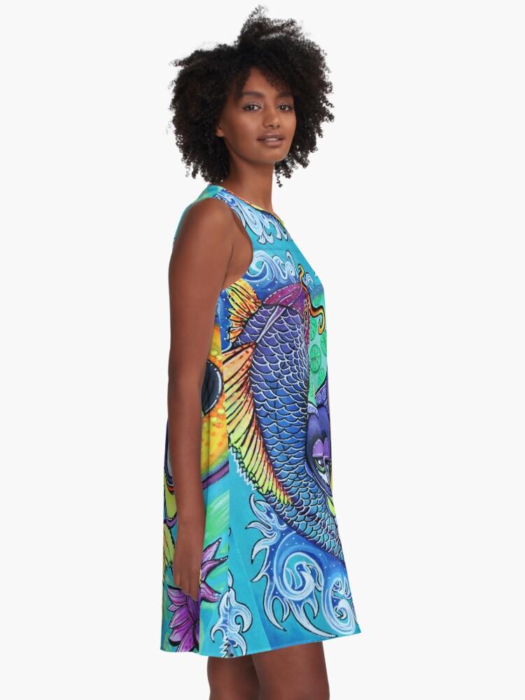 Alternative Ansicht von Drachentor A-Linien Kleid