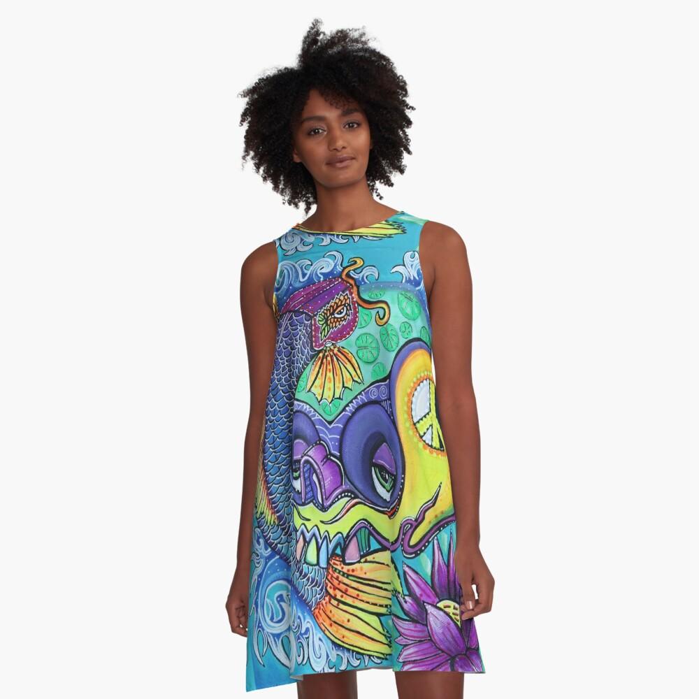 Drachentor A-Linien Kleid