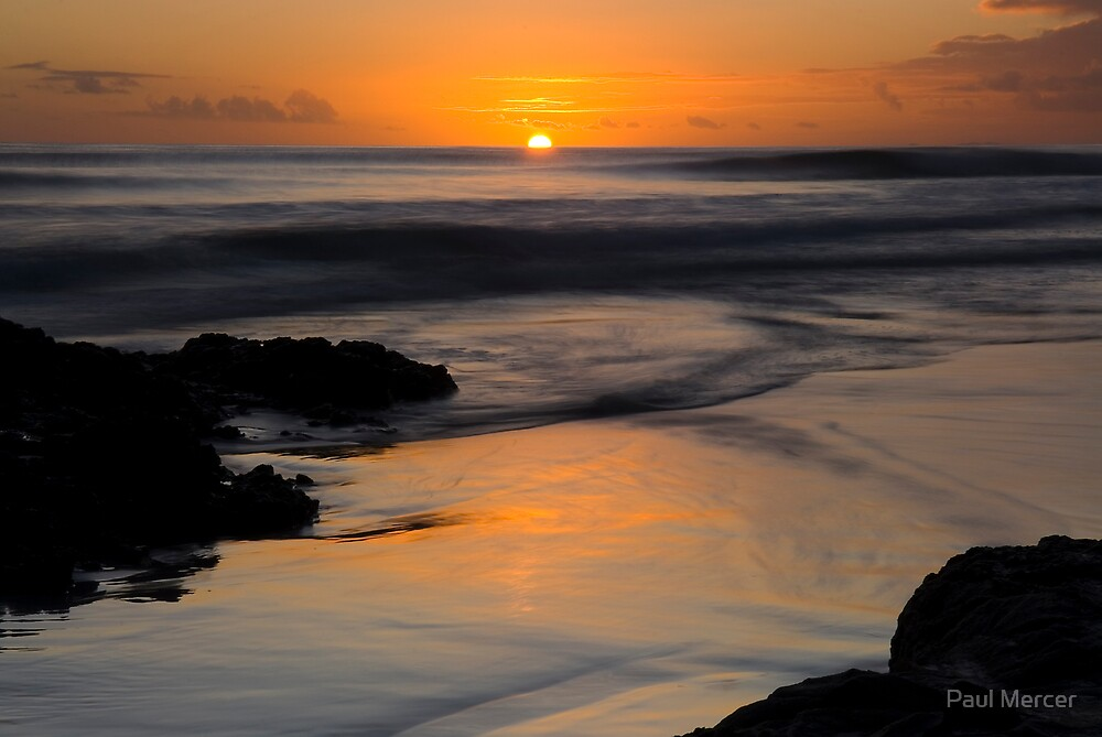 Rarawa beach sunrise 3 by Paul Mercer