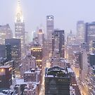 Winter Morning Overlooking the New York City Skyline by Vivienne Gucwa