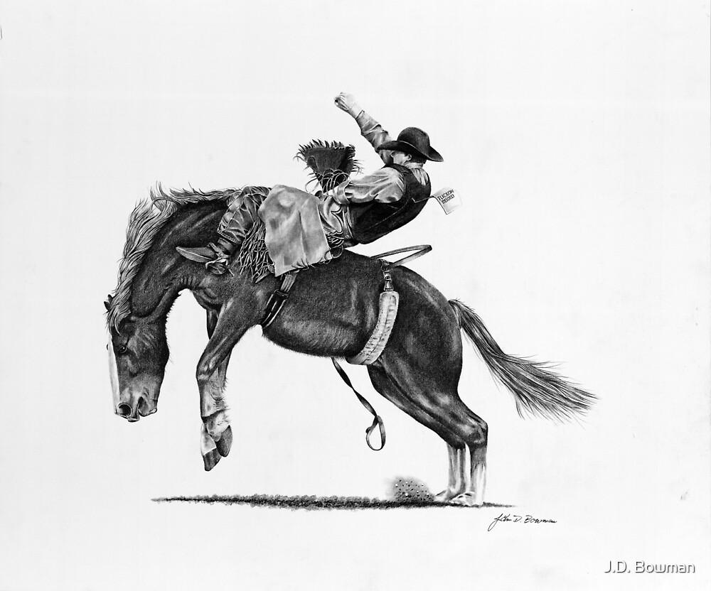 Rodeo Bareback Rider by J.D. Bowman