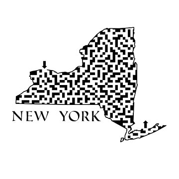New York State Outline Maze & Labyrinth by gorff