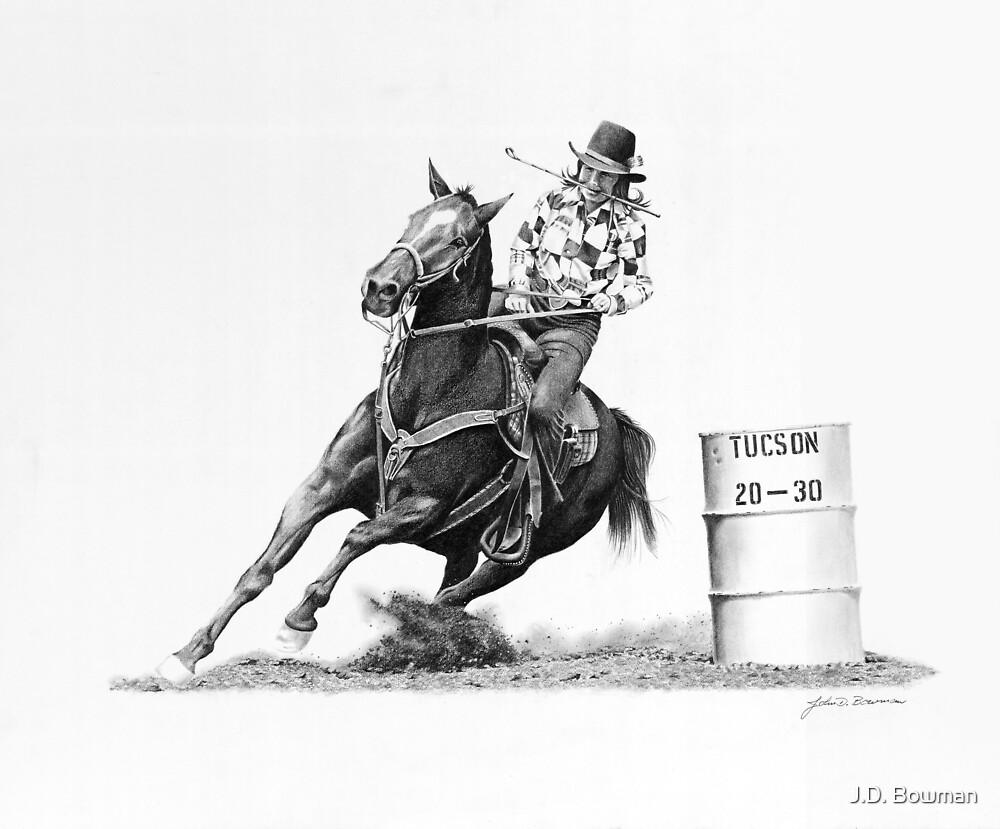 Rodeo Jr. Barrel Racer #2 by J.D. Bowman