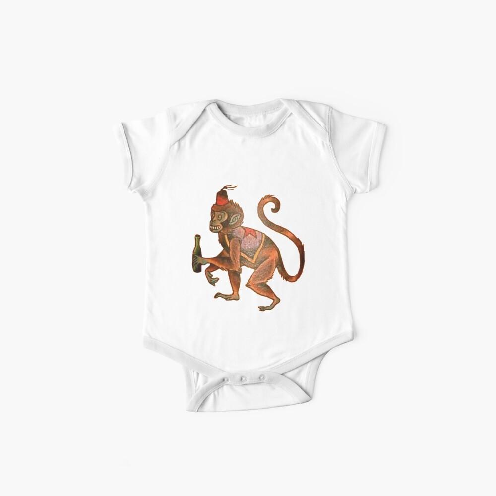 Affe wird heute Abend ein Mann Baby Body