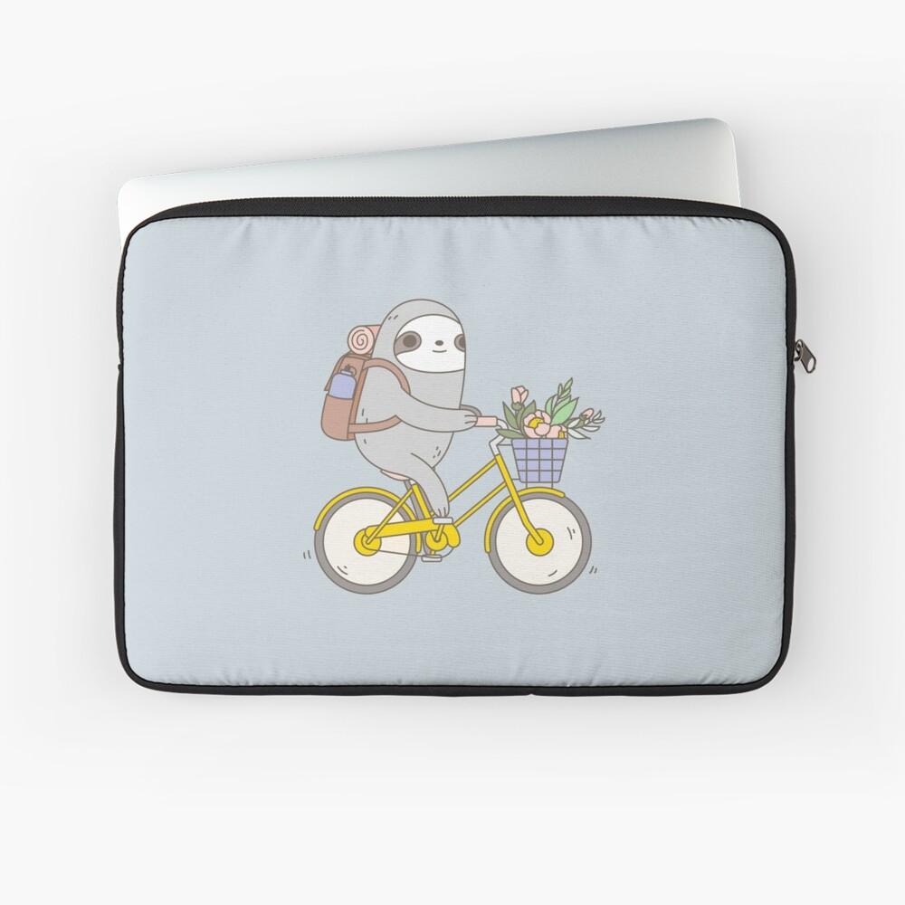 Biking Sloth  Laptop Sleeve